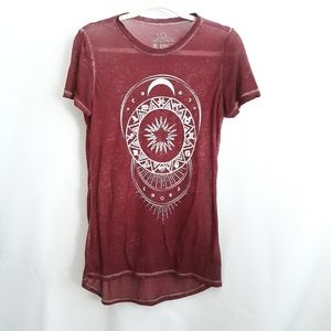 LOL Vintage burnout celestial tee, size Small